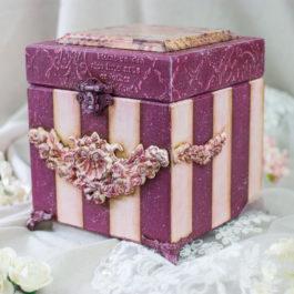 Pudełko drewniane z pokrywką 3D 15x15x15cm
