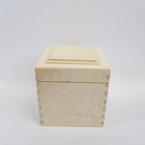 Pudełko drewniane z pokrywką 3D