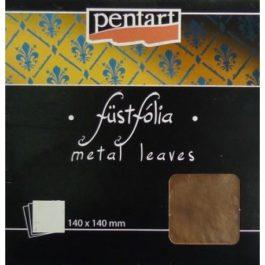 Folia w arkuszach MIEDŹ Pentart 14x14cm