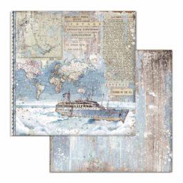 Blok papierów ARCTIC do scrap Stamperia 30x30cm 10szt
