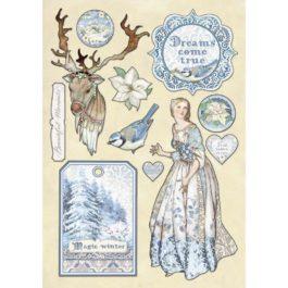 Dekory drewniane WINTER TALES 1 A5 Stamperia