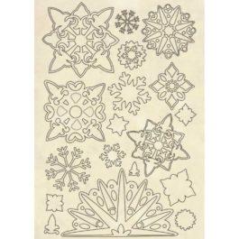 Dekory drewniane śnieżynki WINTER TALES A5 Stamperia