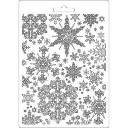 Foremka teksturowa śnieżynki Winter Tales A5 Stamperia