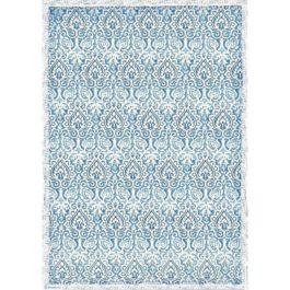 Papier ryżowy damask niebieski A3 WINTER TALES Stamperia