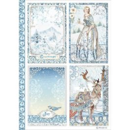 Papier ryżowy 4 karty A4 WINTER TALES Stamperia