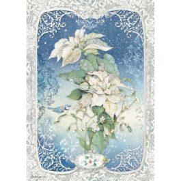 Papier ryżowy gwiazda biała A4 WINTER TALES Stamperia