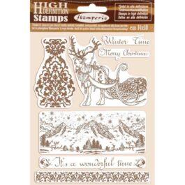 Stempel kauczukowy Winter Tales Zimowy 14x18cm Stamperia