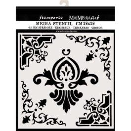 Szablon 3D Dekory Ornamentowe PRINCESS Stamperia 18x18cm