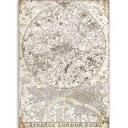 Papier ryżowy MAPA LONDYN A4 LADY VAGABOND Stamperia