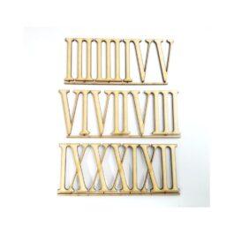 Drewniane Cyfry Rzymskie 6,5cm 12szt.