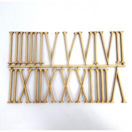 Drewniane Cyfry Rzymskie 6cm Komplet do Zegara