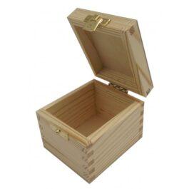 Pudełko drewniane na herbatę Herbaciarka 1 komora 8,2×9,5x8cm