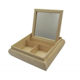 Toaletka Drewniana Kwadratowa z lustrem 20x20x5cm