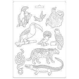 Foremka do odlewów AMAZONIA ZWIERZĄTKA 21×29,7cm Stamperia