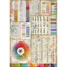 Papier ryżowy ATELIER PALETA BARW A4 Stamperia