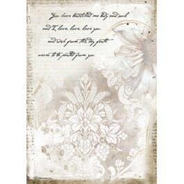 Papier ryżowy JOURNAL ROMANTYCZNY LIST A4 Stamperia