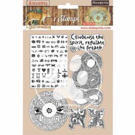 Stempel kauczukowy AMAZONIA WĄŻ 14x18cm Stamperia