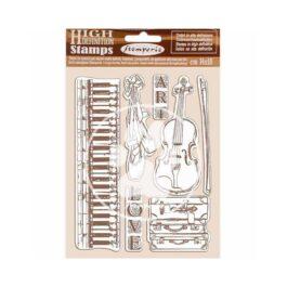 Stempel kauczukowy PASSION MUZYKA 14x18cm Stamperia