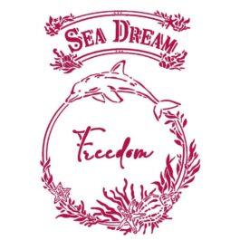 Szablon 21×29,7 cm SEA DREAMS FREEDOM Stamperia