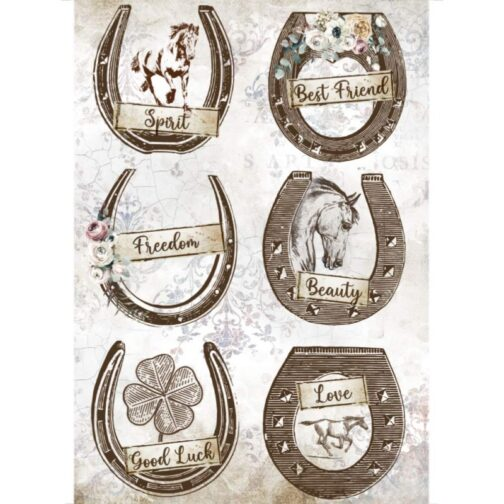 PAPIER-RYŻOWY-ROMANTIC-HORSES-PODKOWY