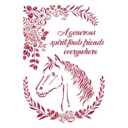 Szablon ROMANTIC HORSES GŁOWA Stamperia 21×29,7cm