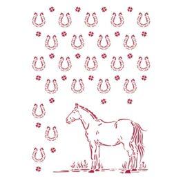 Szablon ROMANTIC HORSES KOŃ Stamperia 21×29,7cm