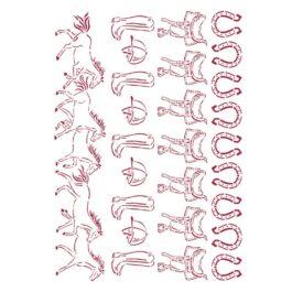 Szablon ROMANTIC HORSES MIX Stamperia 21×29,7cm