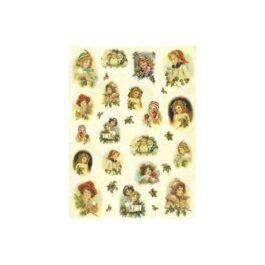 Papier Ryżowy DZIECI BOŻONARODZENIOWE 35x50cm Decomania