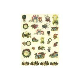 Papier Ryżowy MOTYWY BOŻONARODZENIOWE 35x50cm Decomania