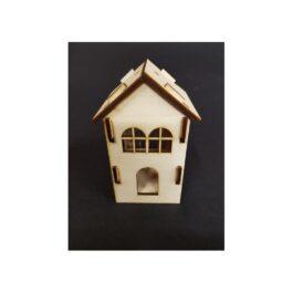 Drewniany DOMEK mały 6x6x11cm