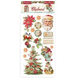 Dekory Samoprzylepne CLASSIC CHRISTMAS 800g 15x30cm Stamperia